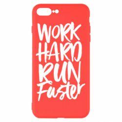 Чохол для iPhone 8 Plus Work hard run faster