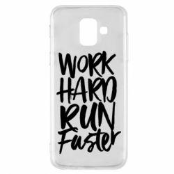 Чохол для Samsung A6 2018 Work hard run faster
