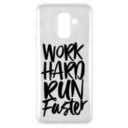 Чохол для Samsung A6+ 2018 Work hard run faster