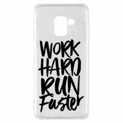 Чохол для Samsung A8 2018 Work hard run faster