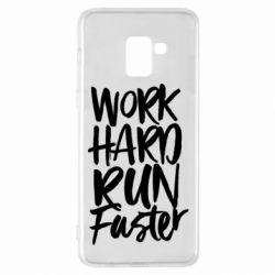 Чохол для Samsung A8+ 2018 Work hard run faster
