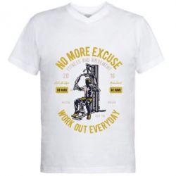 Чоловіча футболка з V-подібним вирізом Work Out Everyday