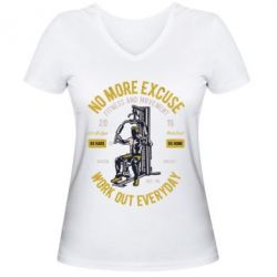 Жіноча футболка з V-подібним вирізом Work Out Everyday