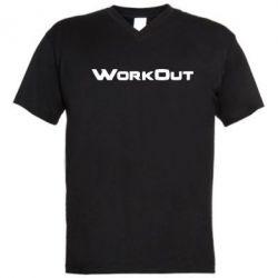 Мужская футболка  с V-образным вырезом Workout - FatLine