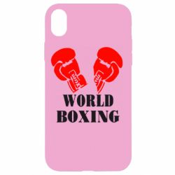 Чехол для iPhone XR World Boxing - FatLine