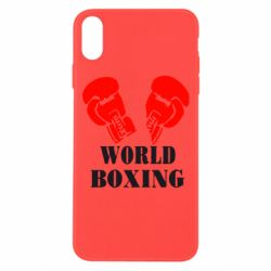 Чехол для iPhone Xs Max World Boxing - FatLine