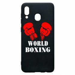 Чехол для Samsung A20 World Boxing