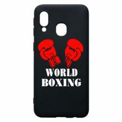 Чехол для Samsung A40 World Boxing