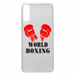 Чехол для Samsung A70 World Boxing
