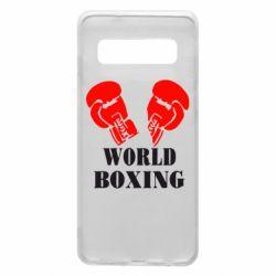 Чехол для Samsung S10 World Boxing