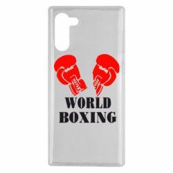Чехол для Samsung Note 10 World Boxing