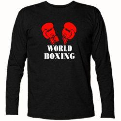Футболка с длинным рукавом World Boxing - FatLine