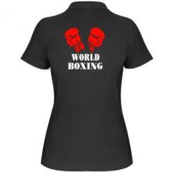 Женская футболка поло World Boxing - FatLine