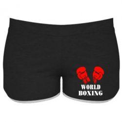 Женские шорты World Boxing - FatLine