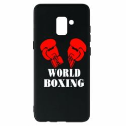 Чехол для Samsung A8+ 2018 World Boxing - FatLine