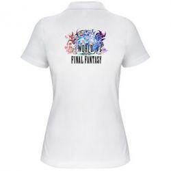 Женская футболка поло World of Final Fantasy