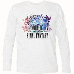 Футболка с длинным рукавом World of Final Fantasy