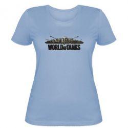 Женская футболка World Of Tanks 3D Logo - FatLine