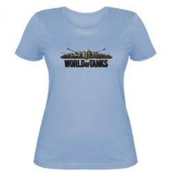 Женская футболка World Of Tanks 3D Logo