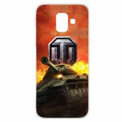 Купить Чехол для Samsung A6 2018 World of Tanks big emblem, FatLine