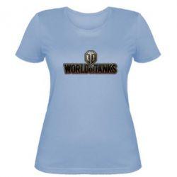 Женская футболка World Of Tanks Logo - FatLine
