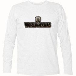 Футболка с длинным рукавом World Of Tanks Logo - FatLine