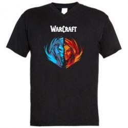 Мужская футболка  с V-образным вырезом World of warcraft battle for azeroth