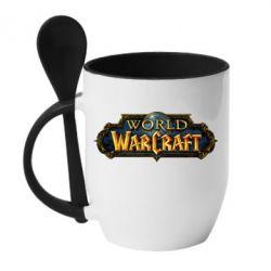 Кружка з керамічною ложкою World of Warcraft game