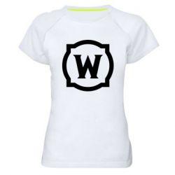 Жіноча спортивна футболка World of warcraft icon