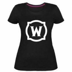 Жіноча стрейчева футболка World of warcraft icon