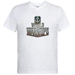 Мужская футболка  с V-образным вырезом World of Warships - FatLine