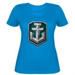 Женская футболка World of Waships Main Logo