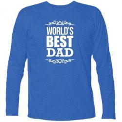 Футболка с длинным рукавом World's Best Dad - FatLine