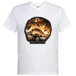 Мужская футболка  с V-образным вырезом WoT Art - FatLine