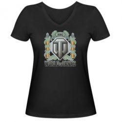 Женская футболка с V-образным вырезом WOT Art - FatLine