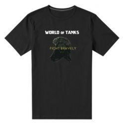 Мужская стрейчевая футболка WoT Fight bravely