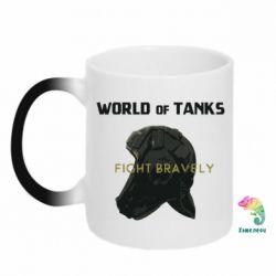 Кружка-хамелеон WoT Fight bravely