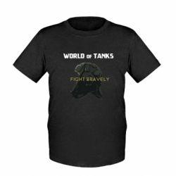 Детская футболка WoT Fight bravely