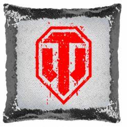 Подушка-хамелеон WOT Logo
