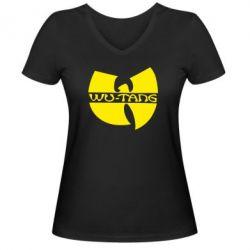 Женская футболка с V-образным вырезом WU-TANG - FatLine