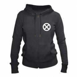 Жіноча толстовка на блискавці X-man logo