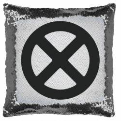 Подушка-хамелеон X-man logo