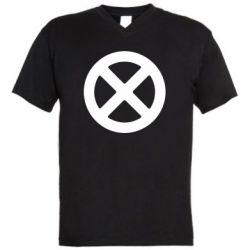 Чоловіча футболка з V-подібним вирізом X-man logo
