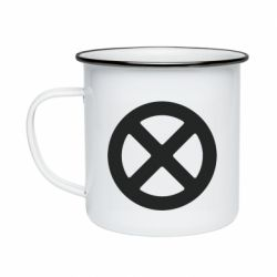 Кружка емальована X-man logo