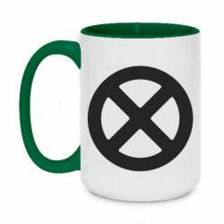 Кружка двоколірна 420ml X-man logo
