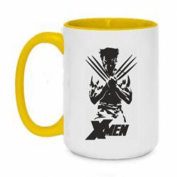 Кружка двоколірна 420ml X men: Logan