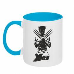 Кружка двоколірна 320ml X men: Logan