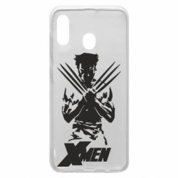 Чехол для Samsung A20 X men: Logan