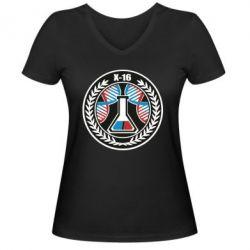 Жіноча футболка з V-подібним вирізом X16