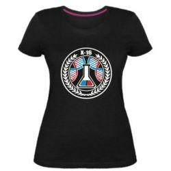 Жіноча стрейчева футболка X16